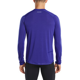 saucony Freedom Hardloopshirt lange mouwen Heren blauw
